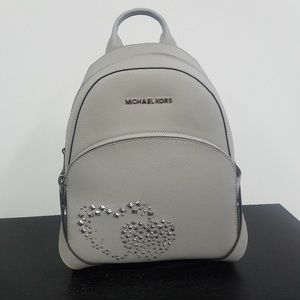 Original Michael Kors Abbey Heart Studded Backpack